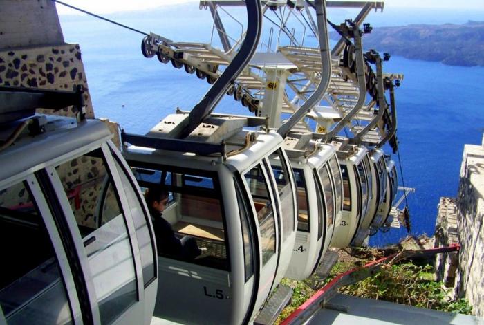 La funivia di Santorini