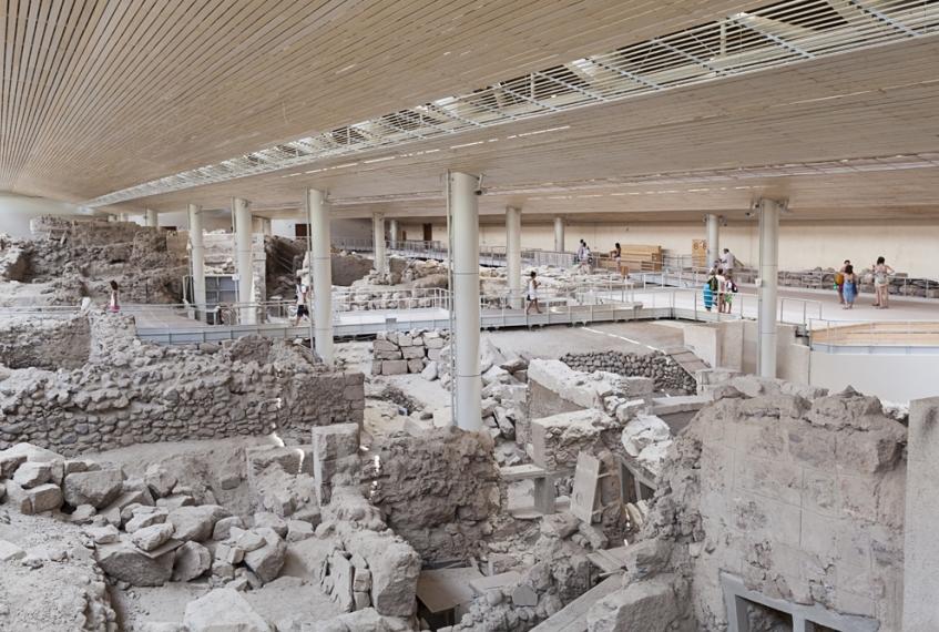Santorini: gli scavi di Akrotiri