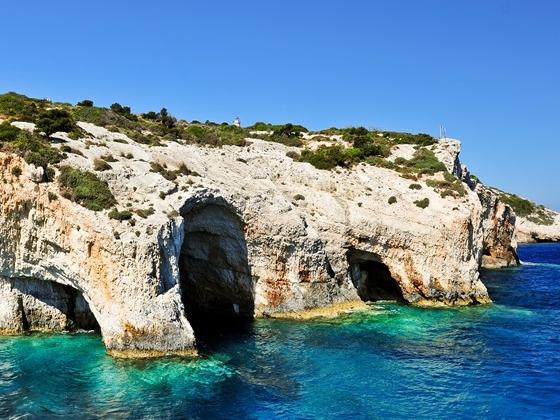 Le grotte blu di Zante
